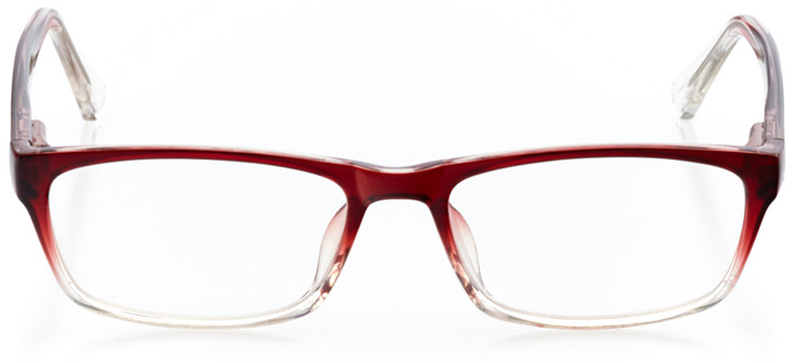 rotterdam: women's rectangle eyeglasses in red - front view