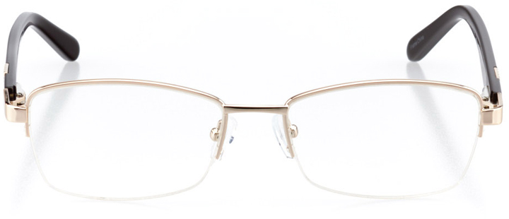 casablanca: women's square eyeglasses in gold - front view