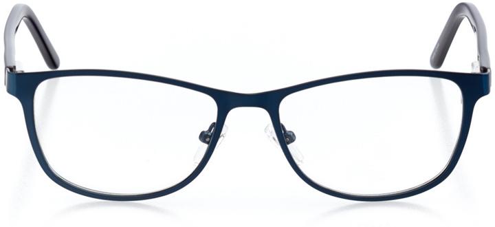 dubai: women's cat eye eyeglasses in blue - front view