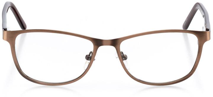 dubai: women's cat eye eyeglasses in brown - front view