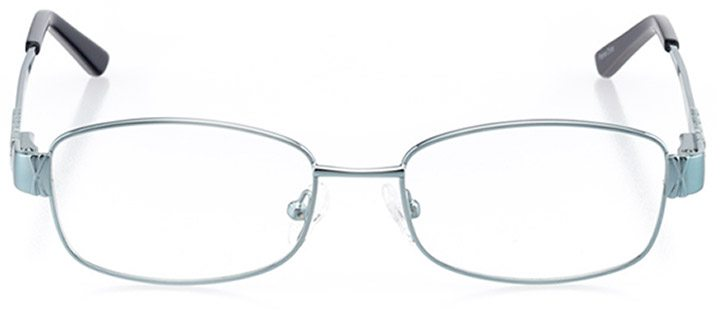 annaba: women's rectangle eyeglasses in blue - front view