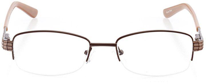 ibiza: women's rectangle eyeglasses in pink - front view