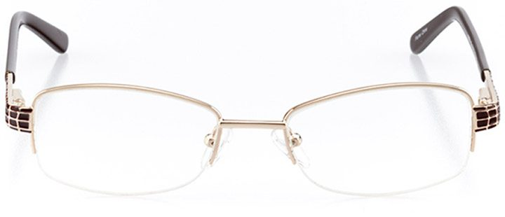 ibiza: women's rectangle eyeglasses in brown - front view