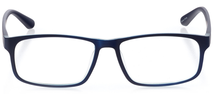 barcelona: men's square eyeglasses in blue - front view