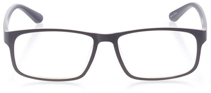gibraltar: men's square eyeglasses in gray - front view