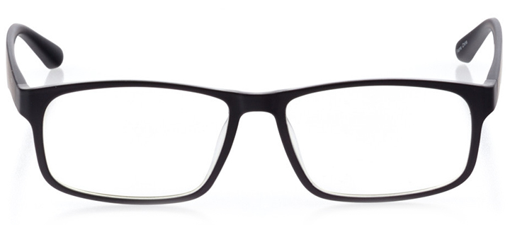 barcelona: men's square eyeglasses in black - front view