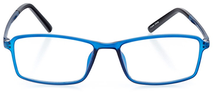 edinburgh: men's rectangle eyeglasses in blue - front view