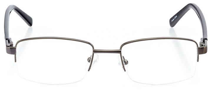 perth: men's rectangle eyeglasses in gray - front view