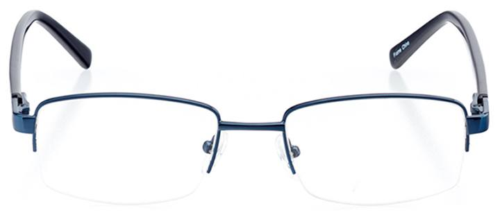 perth: men's rectangle eyeglasses in blue - front view