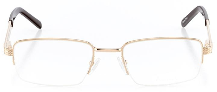 doha: men's rectangle eyeglasses in brown - front view