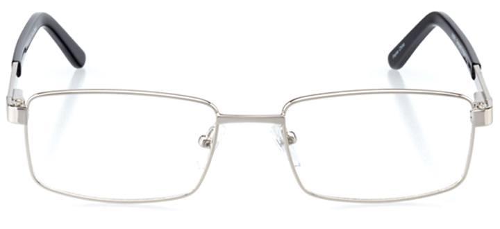 sousse: men's rectangle eyeglasses in black - front view