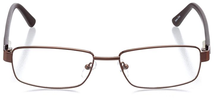 warsaw: men's rectangle eyeglasses in brown - front view
