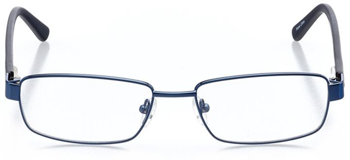 warsaw: men's rectangle eyeglasses in blue - front view