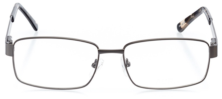 bastia: men's square eyeglasses in gray - front view