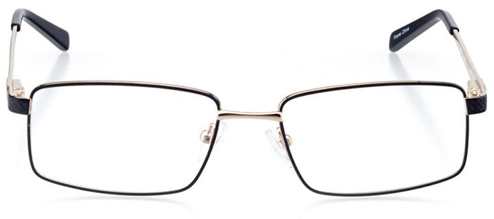 antwerp: men's rectangle eyeglasses in blue - front view