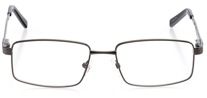 antwerp: men's rectangle eyeglasses in gray - front view