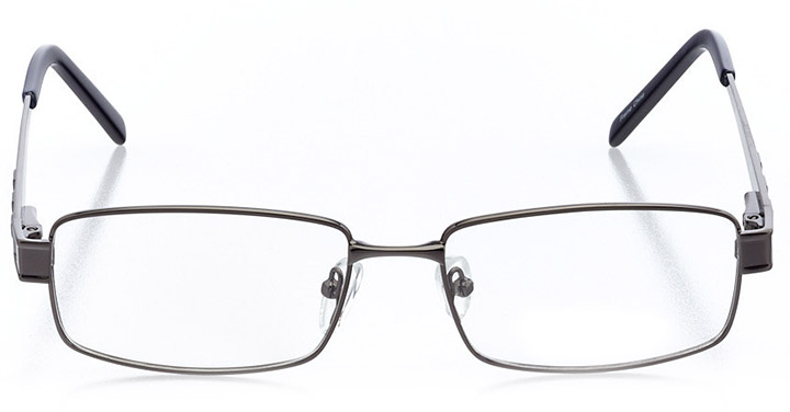 copenhagen: men's rectangle eyeglasses in gray - front view
