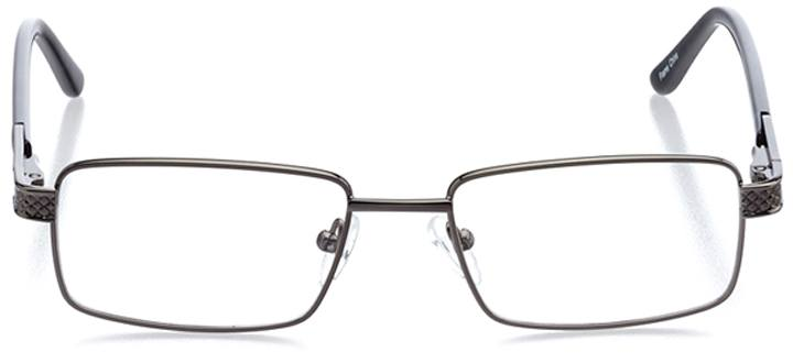 nara: men's rectangle eyeglasses in gray - front view