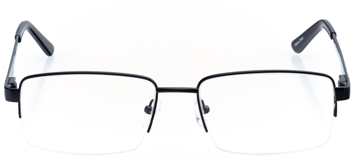san jose: men's square eyeglasses in black - front view