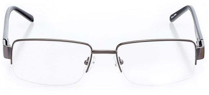 sutton: men's square eyeglasses in gray - front view
