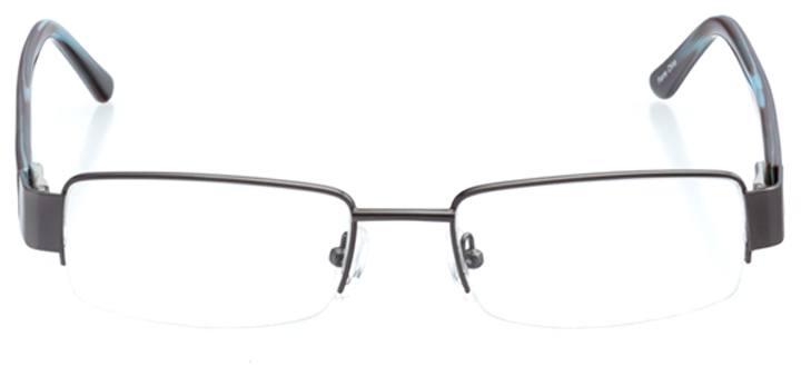 tbilsi: men's rectangle eyeglasses in gray - front view