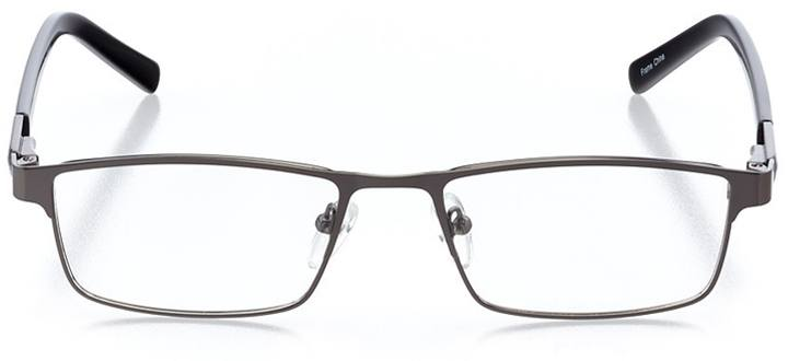 brno: men's rectangle eyeglasses in red - front view