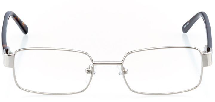 mountain view: men's square eyeglasses in silver - front view