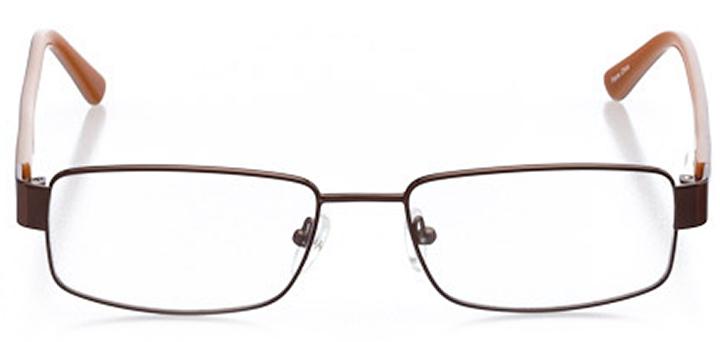 colorado springs: men's rectangle eyeglasses in brown - front view