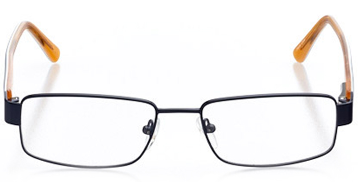 colorado springs: men's rectangle eyeglasses in orange - front view