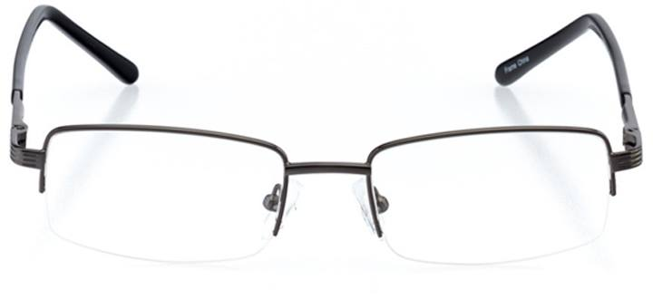 bridgton: men's rectangle eyeglasses in gray - front view