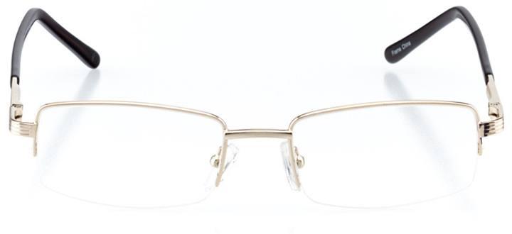 bridgton: men's rectangle eyeglasses in brown - front view