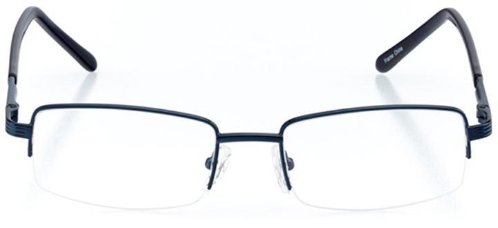 bridgton: men's rectangle eyeglasses in blue - front view