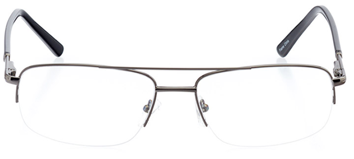 lake tahoe: men's rectangle eyeglasses in gray - front view