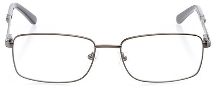 branson: men's rectangle eyeglasses in gray - front view