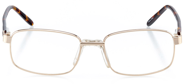boulder: men's square eyeglasses in gold - front view