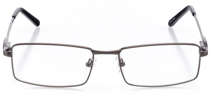 jasper: men's rectangle eyeglasses in gray - front view