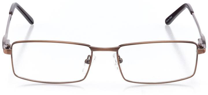 red lodge: men's rectangle eyeglasses in brown - front view