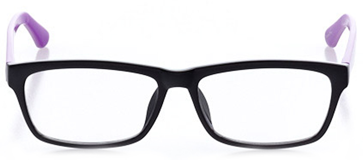 fort lauderdale: women's square eyeglasses in purple - front view