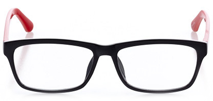 fort lauderdale: women's square eyeglasses in black - front view