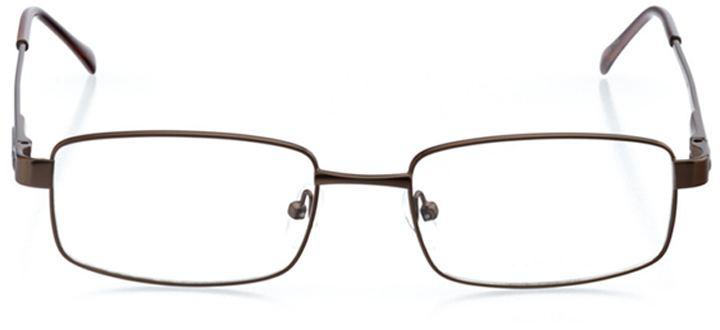 antalya: men's rectangle eyeglasses in brown - front view