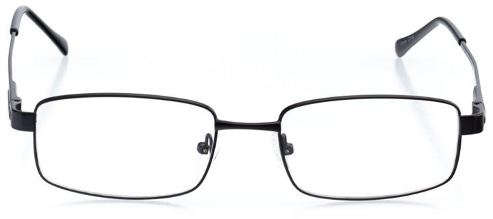 antalya: men's rectangle eyeglasses in black - front view