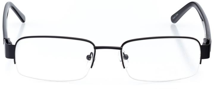 tel aviv: men's rectangle eyeglasses in black - front view