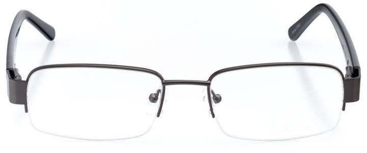 tel aviv: men's rectangle eyeglasses in gray - front view