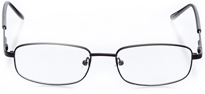 geneva: men's rectangle eyeglasses in black - front view