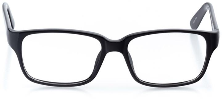 dublin: men's square eyeglasses in black - front view
