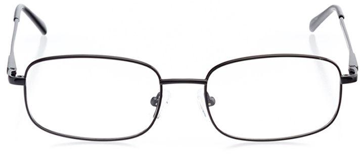 auckland: men's rectangle eyeglasses in black - front view