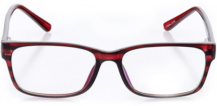 dunkirk: men's square eyeglasses in purple - front view