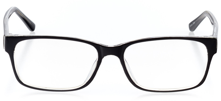 amsterdam: men's square eyeglasses in crystal - front view