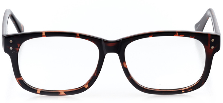 glasgow: square eyeglasses in tortoise - front view