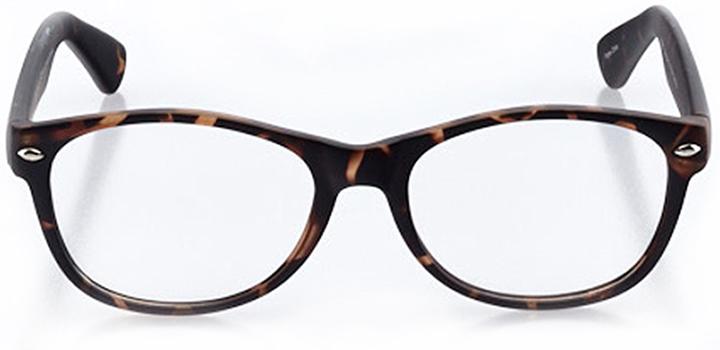 innsbruck: round eyeglasses in tortoise - front view
